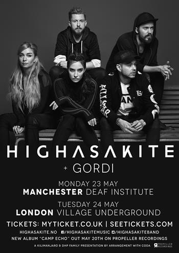 Highasakite UK Tour 2016