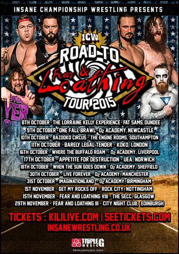 ICW Insane Championship Wrestling UK Tour 2015
