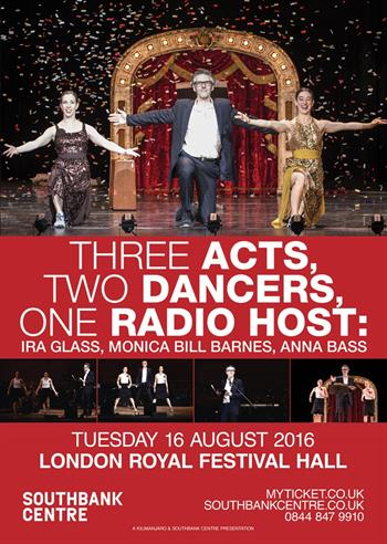 Three Acts, Two Dancers, One Radio Host UK London 2016 show