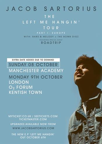 Jacob Sartorius UK Tour 2017