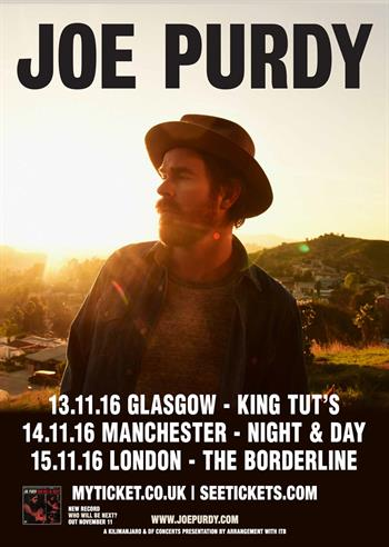 Joe Purdy UK Tour 2016