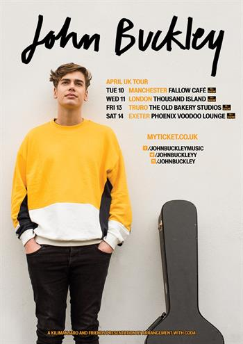 John Buckley UK Tour 2018
