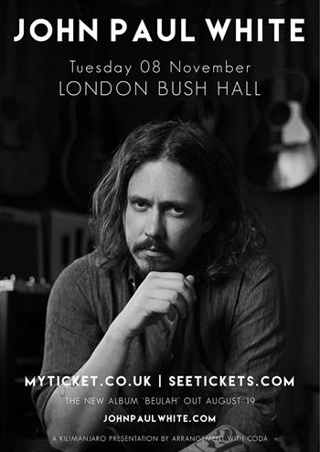 John Paul White 2016 tour