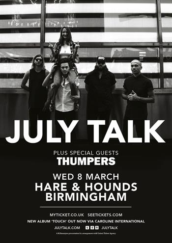 July Talk UK Birmingham 2017 show