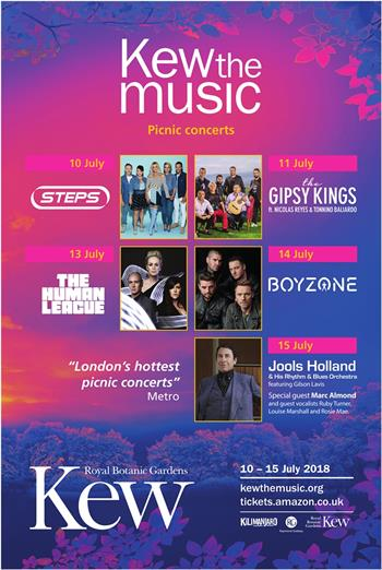 Kew the Music 2018 UK London picnic concert series