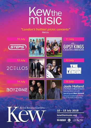 Kew the Music 2018 concert series
