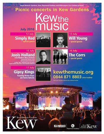 Kew the Music UK London Festival July 2016