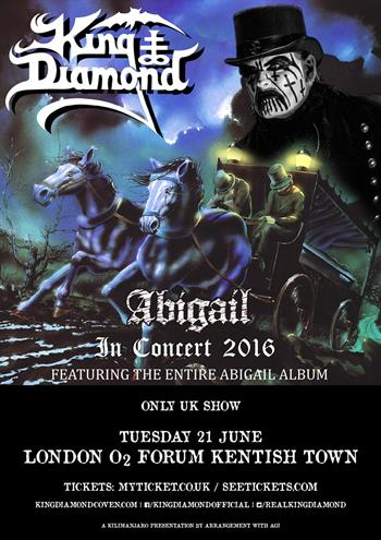 King Diamond UK Tour 2016