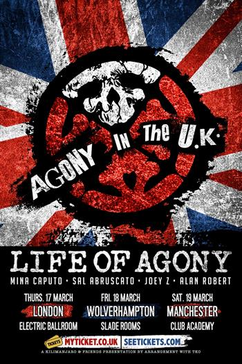 Life of Agony UK Tour 2016