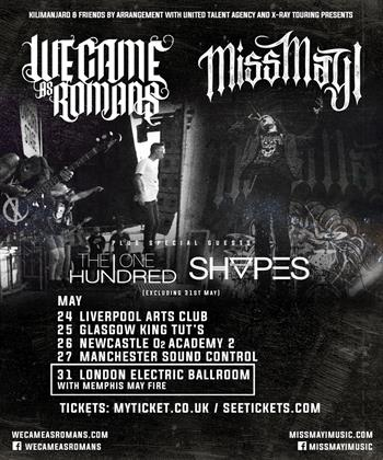 Miss May I + We Came As Romans co-headline UK Tour 2016