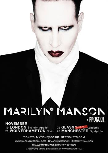 Marilyn Manson UK Tour 2015