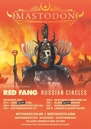Mastodon UK Tour 2017