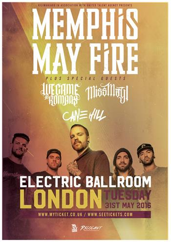 Memphis May Fire UK London 2016 show