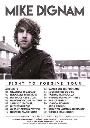 Mike Dignam UK Tour 2016