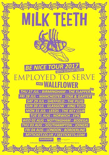 Milk Teeth UK Tour 2017