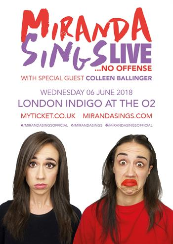 Miranda Sings UK Tour 2018