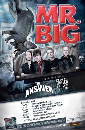 Mr. Big UK Tour 2017
