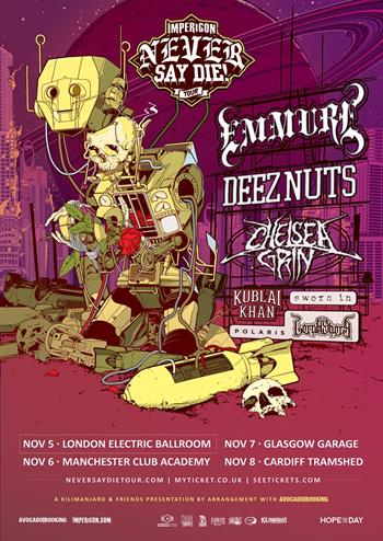 Impericon Never Say Die! UK Tour 2017