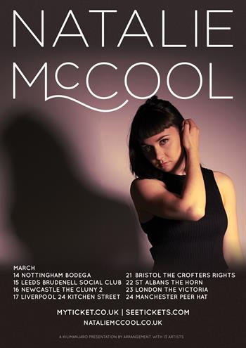 Natalie McCool UK Tour 2017