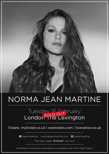 Norma Jean Martine UK London 2016 show