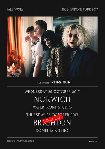 Pale Waves UK Tour 2017