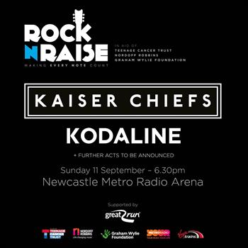 Rock n Raise with The Kaiser Chiefs and Kodaline UK Newcastle 2016 show