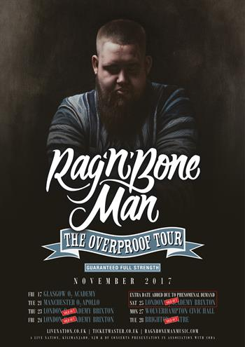 Rag N Bone Man UK Tour 2018