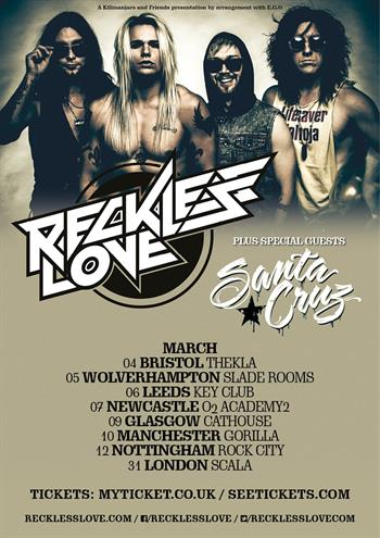 Reckless Love UK Tour 2016