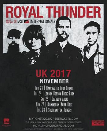 Royal Thunder UK Tour 2017
