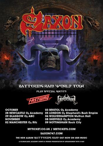 Saxon UK Tour 2016