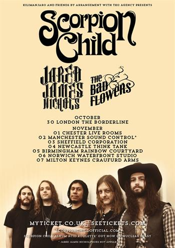 Scorpion Child UK Tour 2016