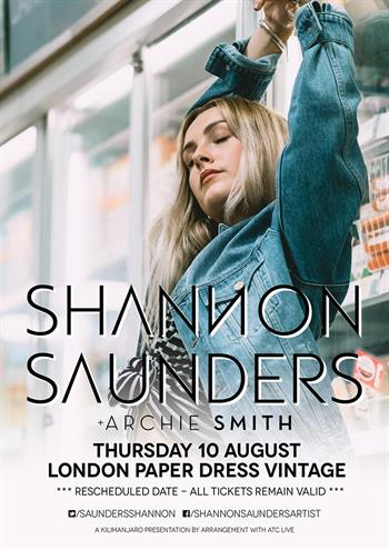 Shannon Saunders rescheduled 2017