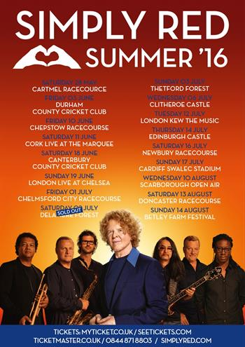Simply Red UK Tour 2016