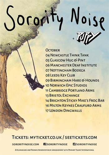 Sorority Noise UK Tour 2016