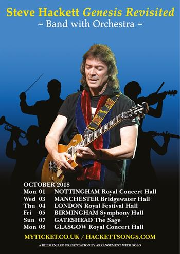 Steve Hackett Genesis Revisited - Band with Orchestra UK Tour 2018
