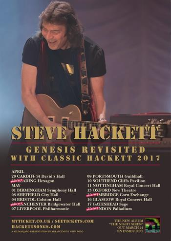 Steve Hackett - Genesis Revisited with Classic Hackett UK Tour 2017