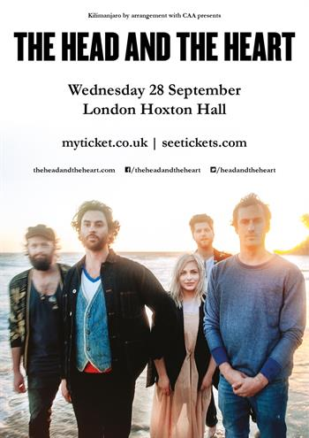 The Head and The Heart UK London 2016 show