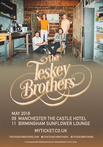 The Teskey Brothers UK Tour 2018