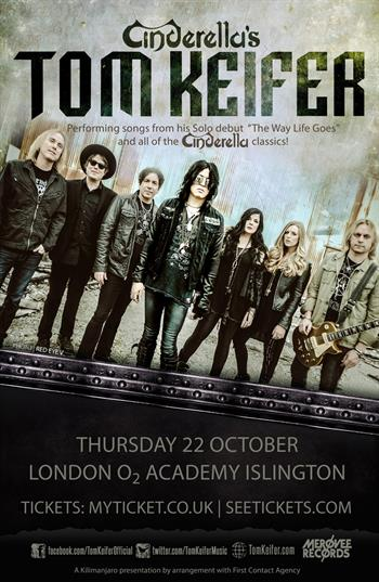 Cinderella's Tom Keifer UK Tour 2015
