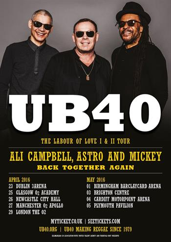 UB40 - Ali Campbell, Astro and Mickey UK Tour 2016
