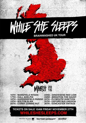 While She Sleeps UK Tour 2016