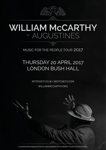 William McCarthy of Augustines UK London 2017 show