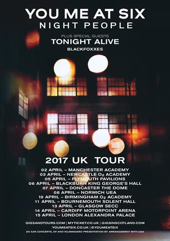 You Me At Six UK Tour 2017